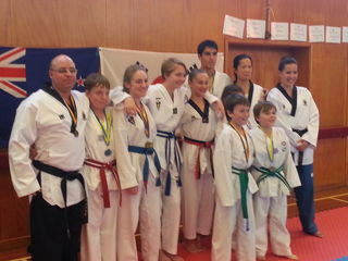 Christchurch Olympic TKD Poomsae Team traveled to Dunedin during the weekend for the Otago Poomsae Development Tournament