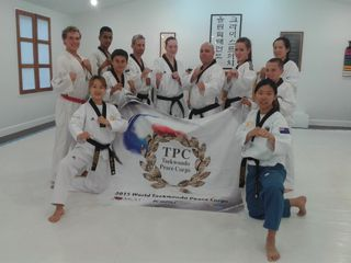 On Sunday 15th February the Korean World Peace Corps Team arrived here in Christchurch to be hosted by the Christchurch Olympic Taekwondo Club.